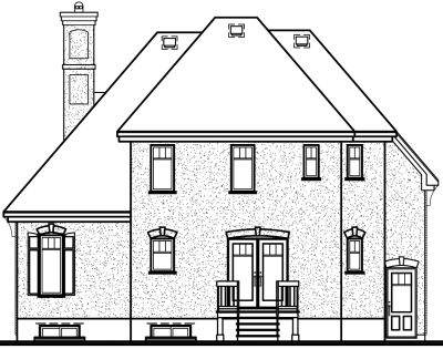 Rear Elevation Plan: 5-622