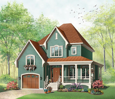 Country Style Floor Plans Plan: 5-623