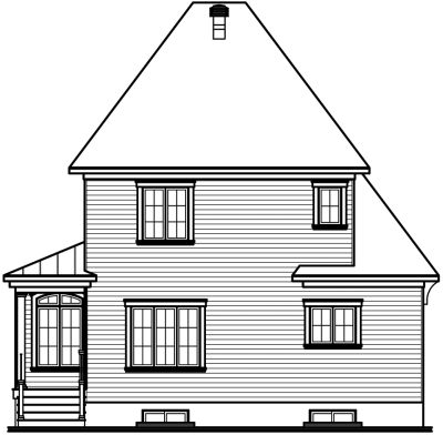 Rear Elevation Plan: 5-623