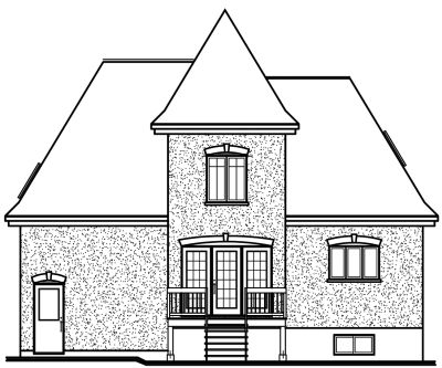 Rear Elevation Plan: 5-624