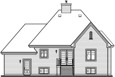 Rear Elevation Plan: 5-625