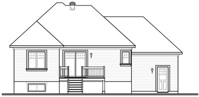 Rear Elevation Plan: 5-626