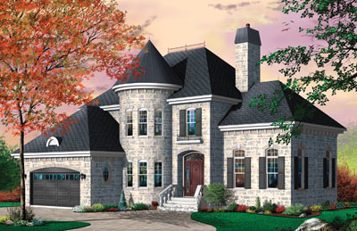 European Style House Plans Plan: 5-627