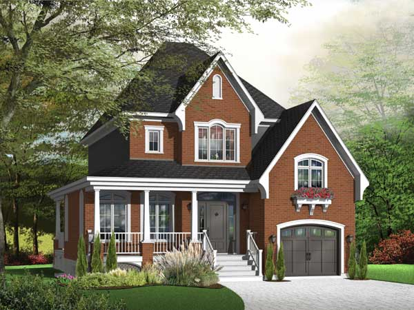 Country Style Home Design Plan: 5-628