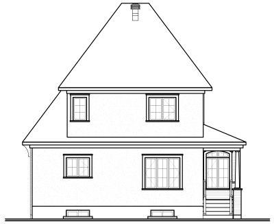 Rear Elevation Plan: 5-628