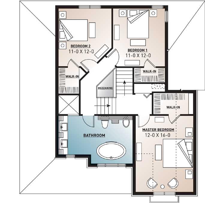 Upper/Second Floor Plan: 5-628