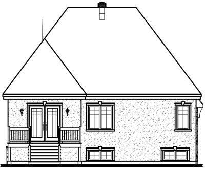Rear Elevation Plan: 5-631