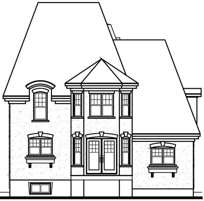 Rear Elevation Plan: 5-634