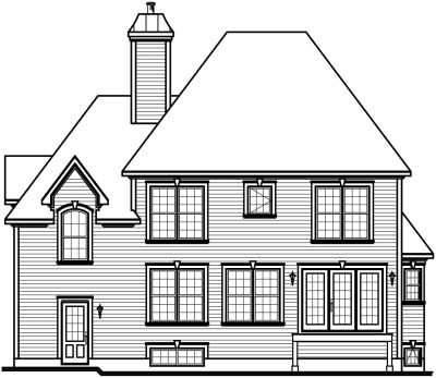 Rear Elevation Plan: 5-635