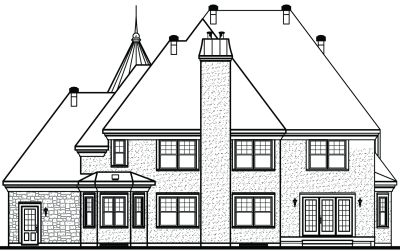 Rear Elevation Plan: 5-636