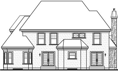 Rear Elevation Plan: 5-637