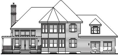 Rear Elevation Plan: 5-638