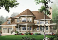 Country Style Home Design Plan: 5-638
