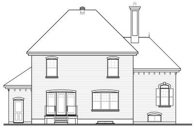 Rear Elevation Plan: 5-640