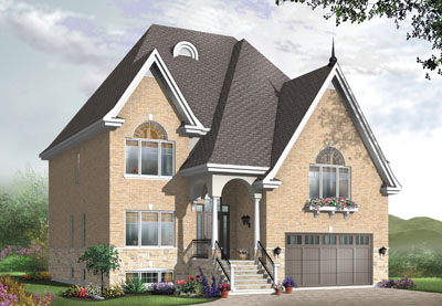 European Style Home Design Plan: 5-642