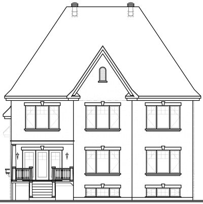 Rear Elevation Plan: 5-642