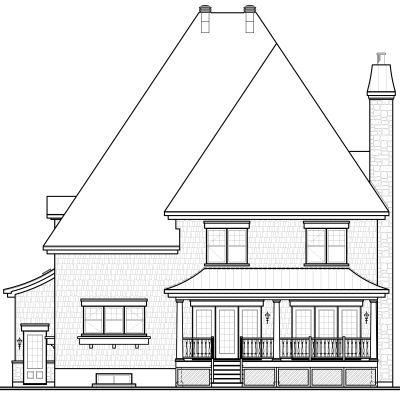 Rear Elevation Plan: 5-643