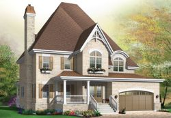 Country Style Home Design Plan: 5-643