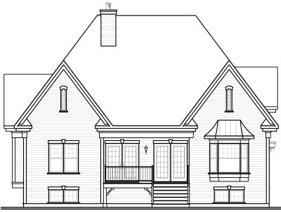 Rear Elevation Plan: 5-644