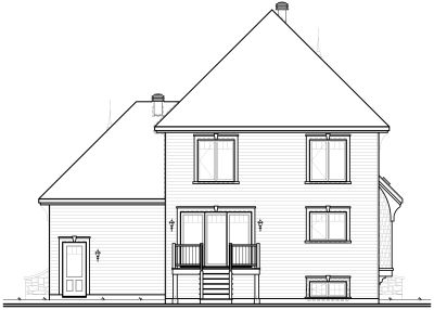 Rear Elevation Plan: 5-645