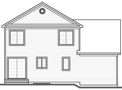 Rear Elevation Plan: 5-646