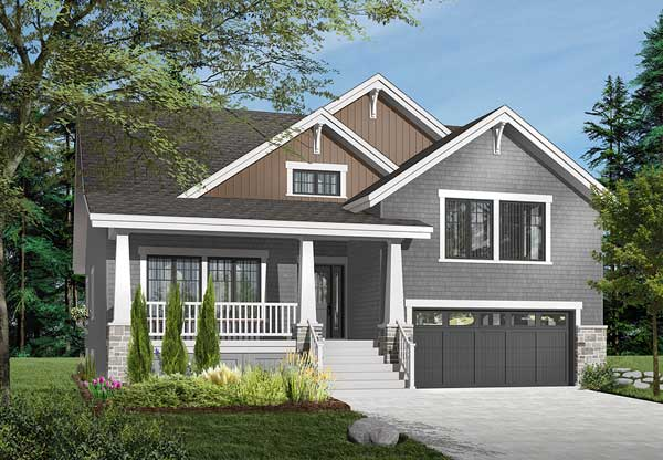 Bungalow Style House Plans Plan: 5-648