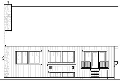 Rear Elevation Plan: 5-648