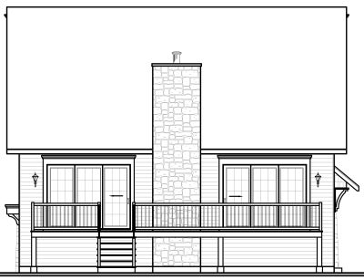 Rear Elevation Plan: 5-649
