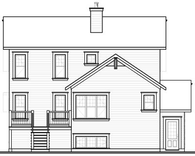Rear Elevation Plan: 5-650