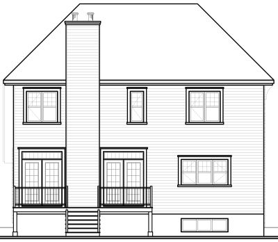 Rear Elevation Plan: 5-651