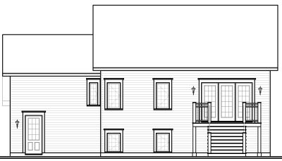 Rear Elevation Plan: 5-652