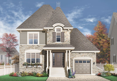 European Style House Plans Plan: 5-653
