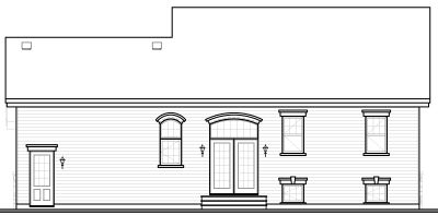 Rear Elevation Plan: 5-654