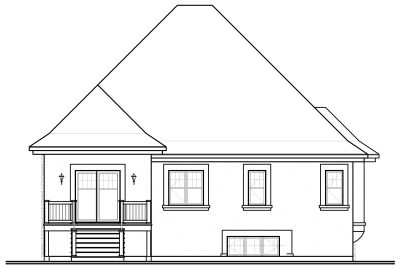 Rear Elevation Plan: 5-656