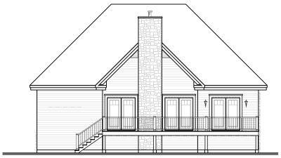Rear Elevation Plan: 5-657