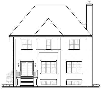 Rear Elevation Plan: 5-659