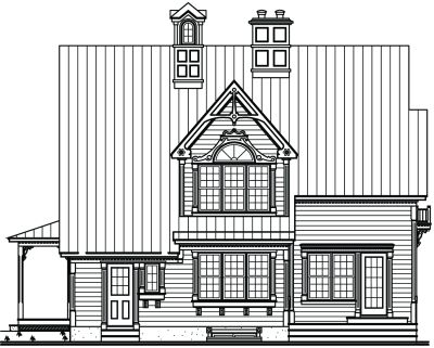 Rear Elevation Plan: 5-660