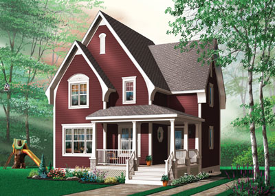 Country Style Home Design Plan: 5-662