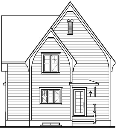 Rear Elevation Plan: 5-662