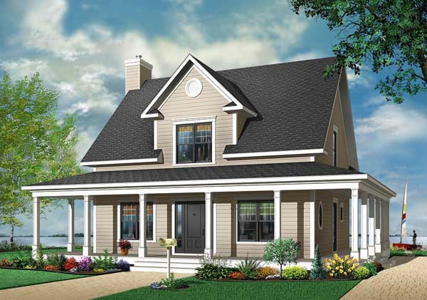 Country Style Floor Plans Plan: 5-663