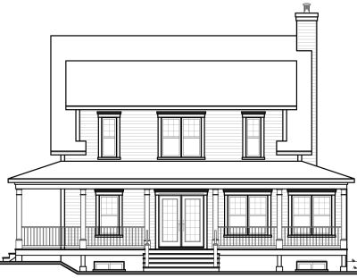 Rear Elevation Plan: 5-663