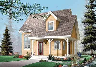 Cottage Style Home Design Plan: 5-664