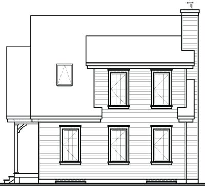 Rear Elevation Plan: 5-664