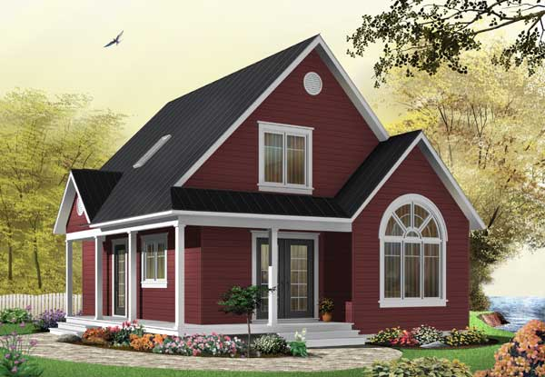 Cottage Style Floor Plans Plan: 5-666