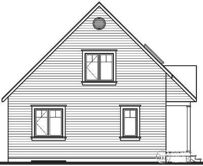 Rear Elevation Plan: 5-666