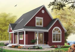 Cottage Style Home Design Plan: 5-666