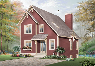 Country Style Home Design Plan: 5-667