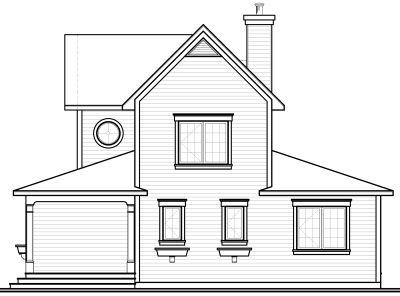 Rear Elevation Plan: 5-670