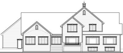 Rear Elevation Plan: 5-672