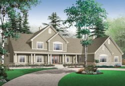 Country Style Home Design Plan: 5-672